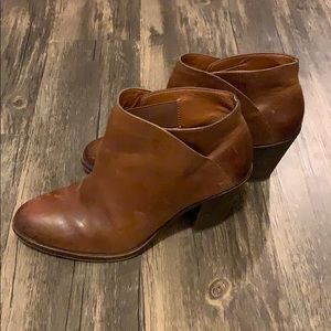 Lucky brand brown leather booties SZ 10